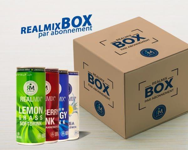 Abonnement Realmix Box - boisson naturelle cannette par abonnement